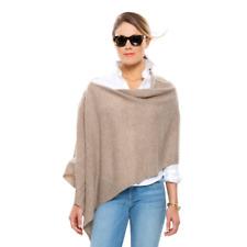 NWT Rachel Zoe 100% Cashmere Dress Topper Poncho Wrap Wear Multi Way Taupe Beige