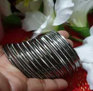 Indian Fashion Bollywood Silver Oxidized Party Bracelet Bangles