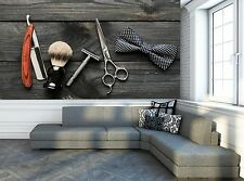 Barber Shop Tools Wall Mural Photo Wallpaper GIANT DECOR Paper Poster Free Paste
