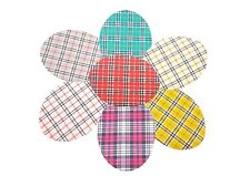 Iron on Check Elbow/Knee Patches x 2 , Washable Choice of Colours