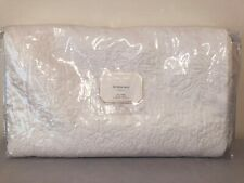 Pottery Barn Monique Lhuillier Blossom Embroidered White Full Queen Quilt Nip
