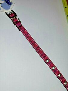 Mirage Pet 126-013 38PK12 Plaid Nylon Dog Collar with Classic Buckle 12 inch