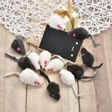 12Pcs Fur Mouse Squeaky Sound Rat Mice Toy For Cat Kitten Puppy Pet Playing UK
