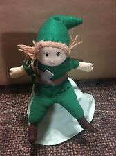 """TWO IN ONE !  Peter Pan and Captain Hook Reversible Plush Puppets 12"""""""