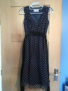 Seraphine Luxe Blue Maternity Dress White Dots Size 6 RPP 129 Used once