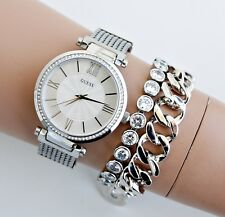 GUESS  Uhr Damenuhr W0638L1 SOHO Edelstahl Silber NEU!