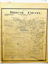 Old Briscoe County Texas General Land Office Owner Map Silverton Goodnight Ranch