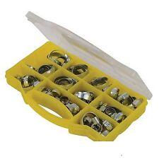 60pce Hose Clips Pack set kit automotive 10-16mm,13-19mm,18-25mm,20-32mm 25-38mm