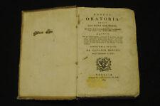 Libri Antichi Verbi italiani Latino Crusca Reggia oratoria Giovanni Margini 1829
