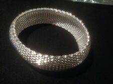 silver solid big web cuff bangle new for 2016 handmade stunning