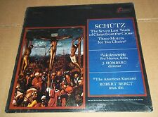 Homberg/Bergt SCHUTZ 7 Last Words, Motets - Turnabout TV-S 34521 SEALED