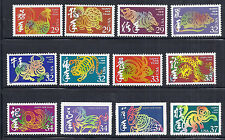 US Lunar New Year / Chinese New Year Complete Set of 12 - 1992 thru 2004, MNH*