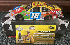 2011 Kyle Busch Bristol Raced Win Action 1:24 Diecast Car With Display Case Rare
