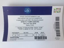 USED STRICTLY COME DANCING TICKET STUB @ O2 ARENA, LONDON THE LIVE TOUR 2018