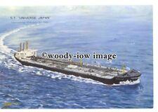 cd0312 - Oil Tanker - Universe Japan , built 1969 - postcard