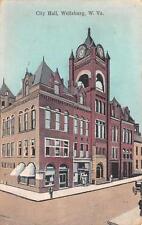 WELLSBURG, WV  West Virginia          CITY HALL  Brooke County     1912 Postcard