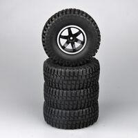 4Pcs RC 1/10 Car Truck 100mm Rubber Rock Crawler 1.9inch Tires &Wheels 12mm Hex