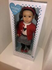 "Kaisley & Friends 18"" Doll -Red Sweater/Checkered Skirt"