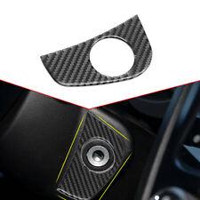 Carbon Fiber Start Switch Trim For Subaru Forester XV Crosstrek STI WRX 2015-19