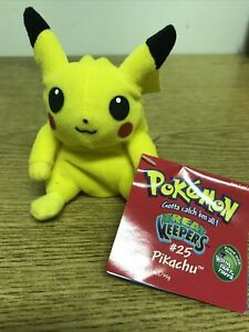 "POKEMON PLUSH PIKACHU #25 TREAT KEEPERS 4.5"" . No Candy"