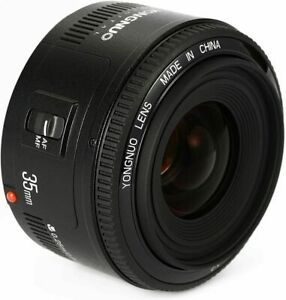 YONGNUO YN35mm F2 Auto Focus Wide Angle Large Aperture Prime Lens for Canon