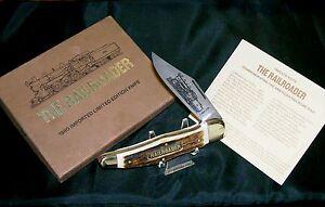 Boker Railroader Knife German Stag Folding Bowie 1980 Commemorative W/Packaging