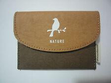 Small Button Wallet Bag Purse Coin Key Holder Case Handbag-Natural 3 Bird