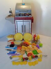 Little Tikes BACKYARD BBQ GRILL AND PLAY FOOD AND GRILLING ACCESSORIES LOT