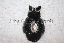 Halloween Decorations Black Owl Hanging Ornament Rhinstones Beaded Style A
