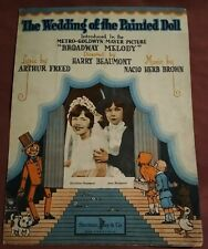 1929 THE WEDDING OF PAINTED DOLL SHEET MUSIC SHERMAN CLAY & CO. SF VERY GOOD