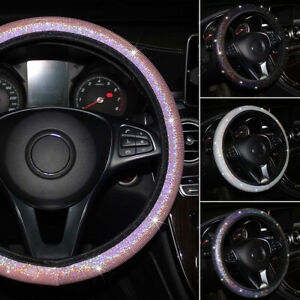 37-38cm Bling Auto Car Steering Wheel Cover Shining White Universal Accessories