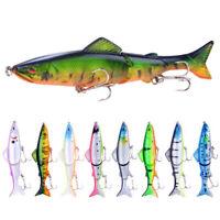 8 Pack Swimbait Fishing Lures Jointed Sinking Swim Stick Bait Jewfish Cod Tackle