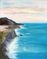 Big Sur Seascape California Painting Original Art 20 by 16 In By Chernetsova