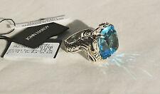 John Hardy NEW Naga 18K Gold & Sterling Silver Sky Blue Topaz Ring size 6 $995