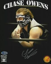 Chase Owens Signed 8x10 Photo BAS COA New Japan Pro Wrestling Bullet Club Auto 7