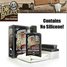 Doc Bailey's Leather Black Kit for Jackets Chaps Gloves Boots - 4 oz - 80004-12