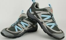 NWT Swiss Gear Women's Epic Gray/Blue Hiking Shoes Suede/Mesh Upper US Size 9