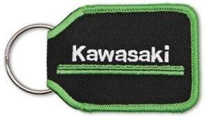 Kawasaki 3 Green Lines Woven Polyester Keychain Keyfob Black K068-8915-BKNS