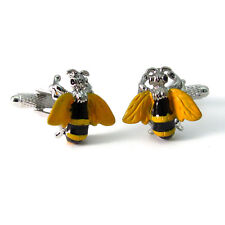 Busy Bee Cufflinks by Onyx-Art New Gift Boxed sil CK356
