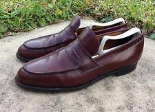 Churchs Oxblood Slip On Men's Penny Loafers Custom Grade Made in England Size 10