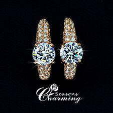 18K Gold Plated Sparkling Swarovski Element Crystals Stud Earrings RRP:$119