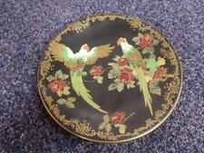 Vintage Crown Devon Fieldings Plate Featuring A Parrot And Rose Painted Design