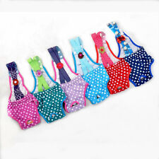 1x Washable Puppy Diaper Underwear Sanitary Dots Pants Suspender Stay On Female