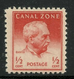 U.S. Possession Canal Zone stamp scott 136 - 1/2 cent issue of 1948 - mnh  4x