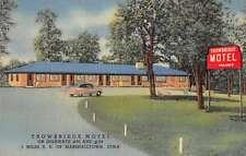Marshalltown Iowa Trowbridge Motel Antique Postcard J59477