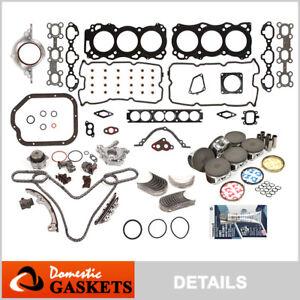 Fit 01-04 Nissan Pathfinder Infiniti QX4 3.5L Engine Rebuild Kit VQ35DE