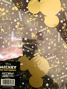 Gift Wrap mickey mouse wrapping paper 2 sheets and tags