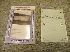 Microscale decals 87-224 50' o/side braced sgl door box FEC Miss Ex P Bath  K102