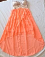 Dotti Dress ~ Ladies 6 ~ Strapless Formal Hi Low Padded Sequin Bust Gown ~ MBC