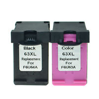 Compatible 2x Black Color Ink fit 63XL 63-XL For HP ENVY 4520 All-in-One Printer